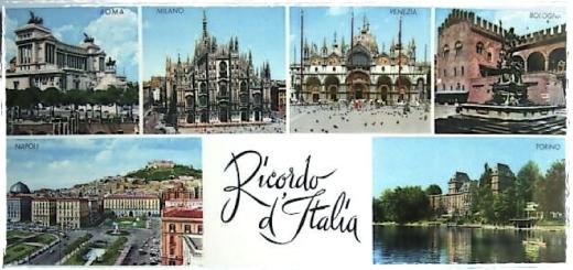Cartolina Italia